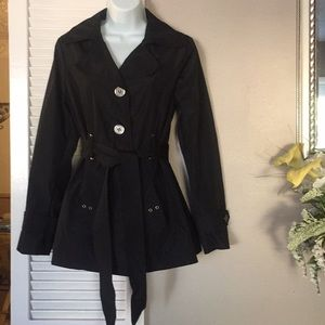 Faded Glory Black Rain Jacket/Coat
